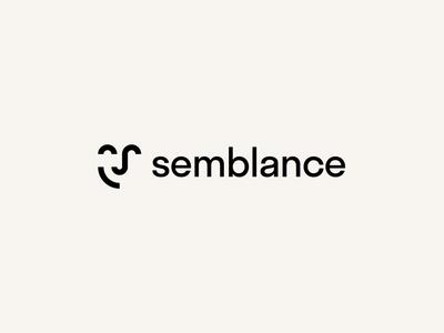 Semblance simple face minimalism modern minimal logo