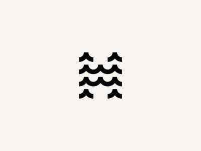 Haveland Exports typogaphy icon sea wave modern minimal simple logo