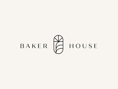 Baker House branding design typogaphy minimalism icon simple modern minimal logo