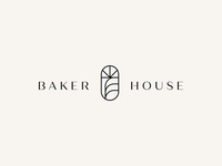 Baker House branding design typogaphy minimalism icon simple modern minimal logo