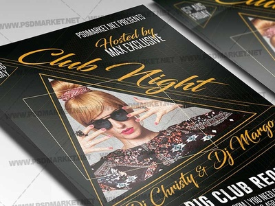 Club Night Template - Flyer PSD show time show night dj show dj psd dj flyer design dj flyer dj battle flyer dj battle dj club party club flyer design