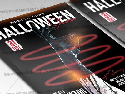 Halloween Show Template - Flyer PSD kids halloween party halloween queen halloween party halloween flyer design halloween flyer halloween costume party costume contest flyer