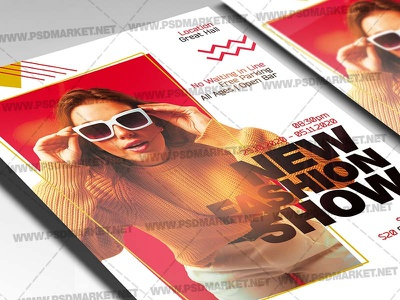 New Fashion Show Template – Flyer PSD sale flyer fashion week fashion show fashion sale fashion flyer fashion event
