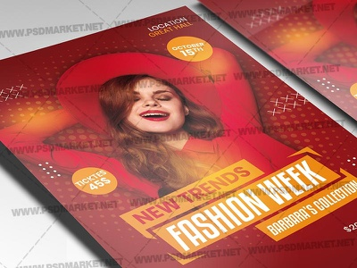 New Fashion Template – Flyer PSD sale flyer fashion week fashion show fashion sale fashion flyer fashion event