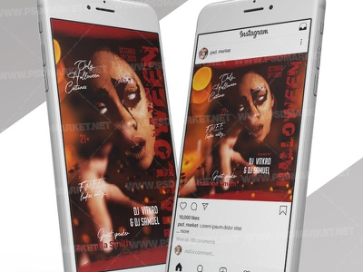 Halloween Madness - Instagram Post and Stories Template superheroes party kids halloween party halloween superheroes flyer halloween superheroes halloween queen halloween party halloween flyer design halloween flyer halloween costume party costume contest flyer