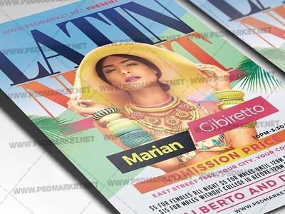 Latin Night Flyer - PSD Template
