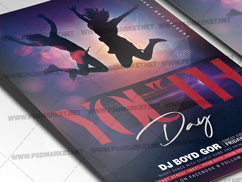 Youth Day Flyer - PSD Template youth day poster youth day flyer design youth day flyer youth day world youth day psd print international youth day happy youth day friends flyer design design psd