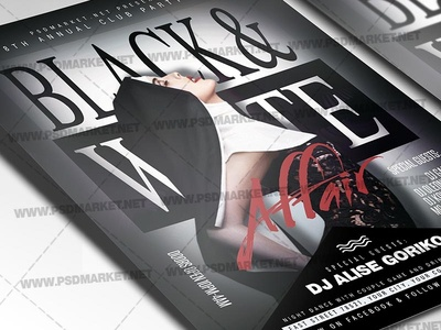 Black and White Flyer - PSD Template