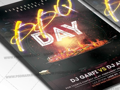 BBQ Day Event Flyer - PSD Template