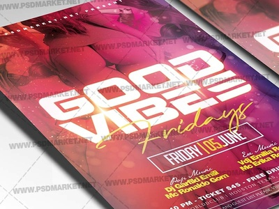Good Vibes Flyer - PSD Template