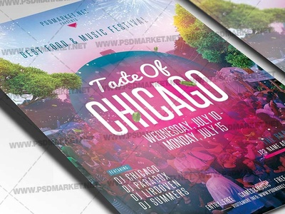 Taste of Chicago Flyer - PSD Template