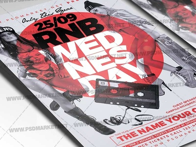 RNB Wednesday Flyer - PSD Template