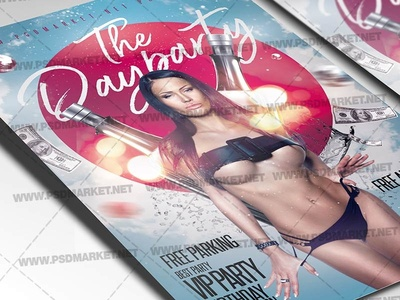 The Day Party Flyer - PSD Template