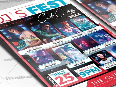 DJ Festival Flyer - PSD Template