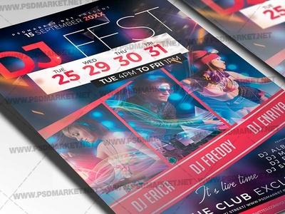 DJ Fest Event Flyer - PSD Template