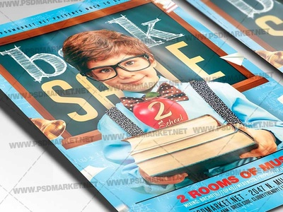 Back 2 School Sale Flyer - PSD Template