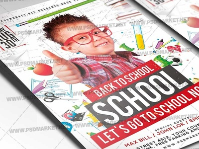 School Back Flyer - PSD Template