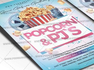 Popcorn PJ`s Flyer - PSD Template