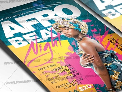 Afro Beat Night Flyer - PSD Template