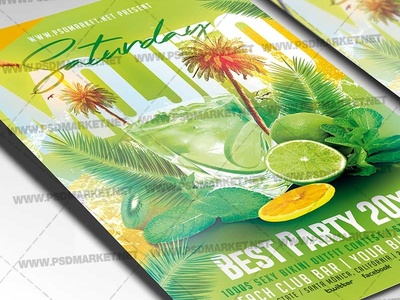 Mojito Saturday Flyer - PSD Template