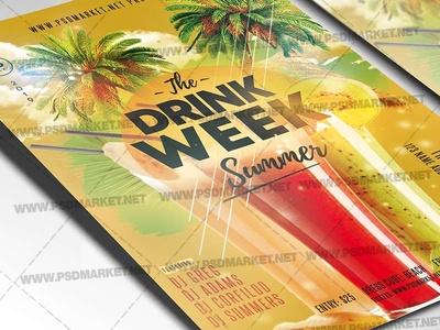 Drink Week Flyer - PSD Template