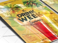 Drink Week Flyer - PSD Template