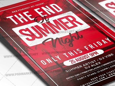 The End of Summer Night Flyer - PSD Template