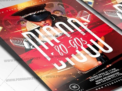 Disco 90s Flyer - PSD Template