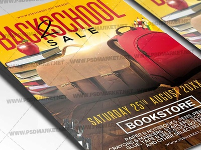 Download Back 2 School Sale Flyer - PSD Template