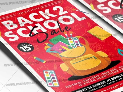 Back To School Sale Event Flyer - PSD Template