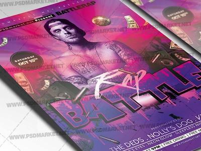Rap Flyer - PSD Template old school hip hop hip hop poster hip hop party flyer hip hop flyer hip hop festival grand opening flyer free psd flyer templates flyer layout flyer examples festival flyer club flyer templates