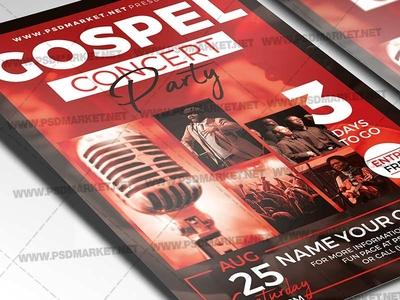 Gospel Concert Party Flyer - PSD Template