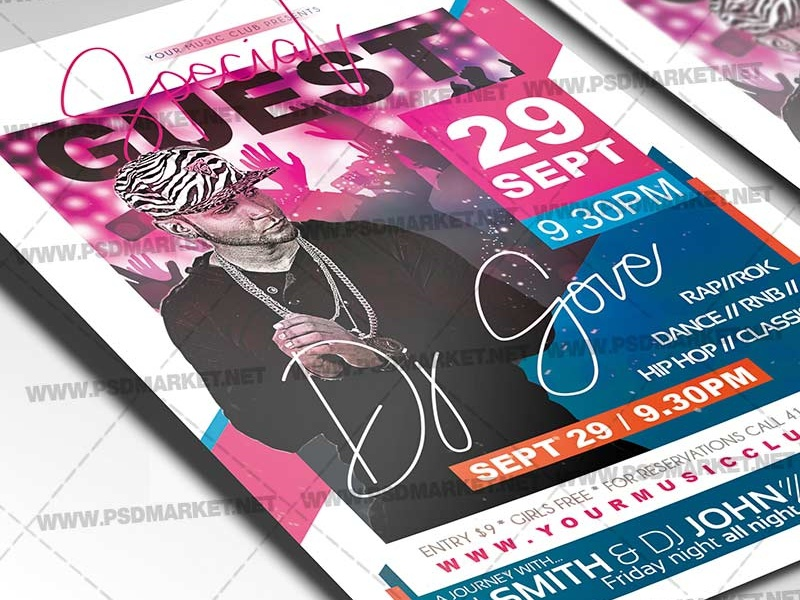 Special Guest Night Flyer - PSD Template by PSD market on