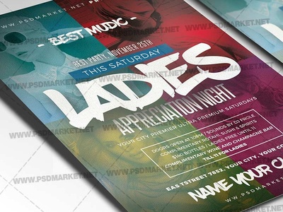 Ladies Appreciation Night Flyer - PSD Template