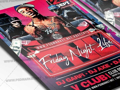 Friday Night Life Flyer - PSD Template