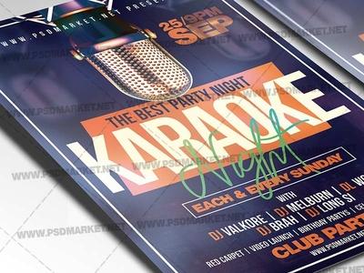 Karaoke Party Flyer - PSD Template