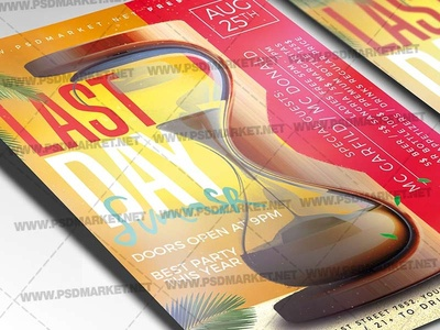 Last Day Summer Flyer - PSD Template