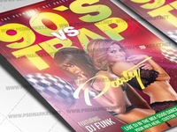 90s vs Trap Flyer - PSD Template