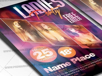 Ladies Party Flyer - PSD Template