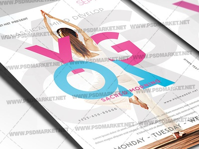 Yoga Class Flyer Designs Themes Templates And Downloadable Graphic Elements On Dribbble