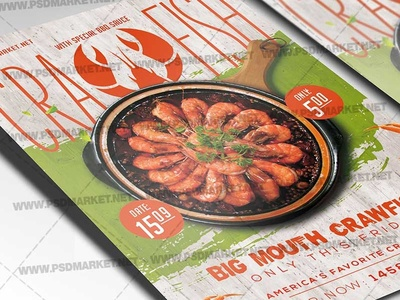 Crawfish Day Flyer - PSD Template