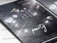 All Club Black Party Flyer - PSD Template