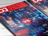 DJ Festival USA Flyer - PSD Template