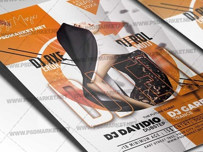 DJ Night Party Flyer - PSD Template