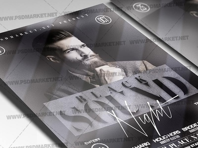 Black Sound Flyer - PSD Template