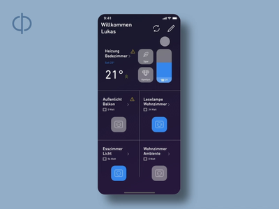 Mobile app concept for smart home devices