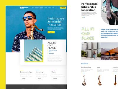 UCLA Herb Albert School of Music music ucla education web flat design ux ui