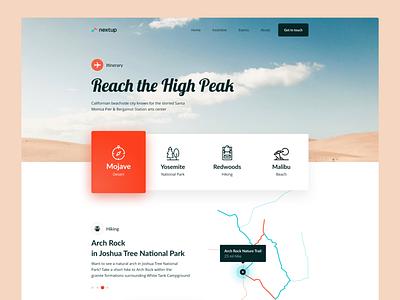 Reach High Peak 3d adobe xd adobe website simple minimal photography typography web design flat ux ui