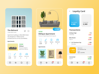Construction Agency minimal flat ios mobile app design ux ui adobexd adobe 2d
