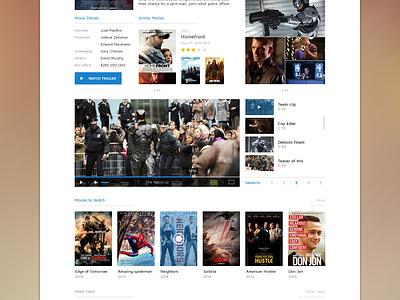 Movie UI ui flat simple user interface movie film description player news